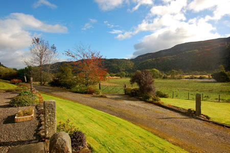 View of Strathglass from Carnoch Farm Self Catering Cottage